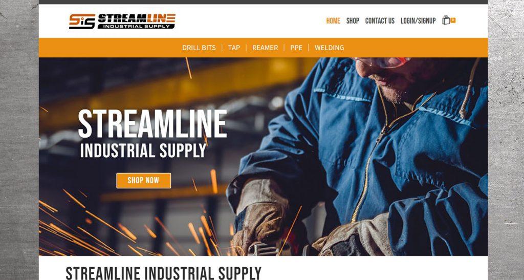 Streamline Industrial Supply Website