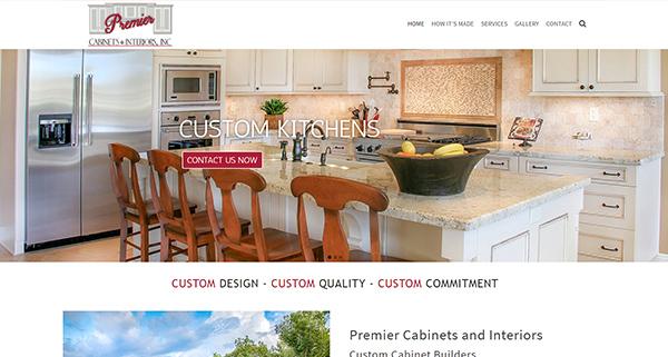 Premier Cabinets Website in Hartwell GA