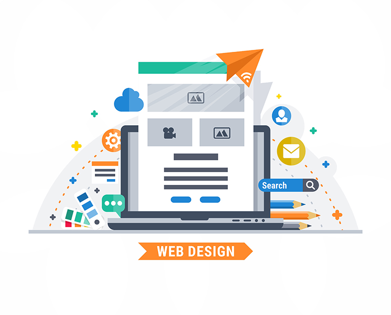 New Website Design Graphic